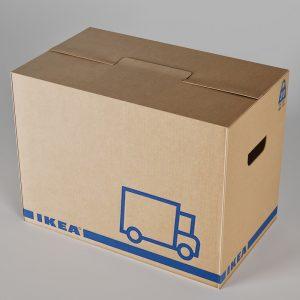Caja de cartón Ikea